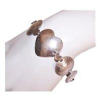 WWII Australia Coin Silver Heart Link Bracelet Sweetheart Jewelry Trench Art