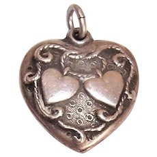 Walter Lampl 'Lasso My Heart' Sterling Silver Puffy Heart Charm