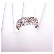 Antique Edwardian Platinum .81CT TW Diamond Engagement Ring