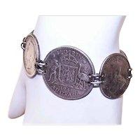 Vintage Australia Coin Silver Sweetheart Bracelet