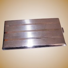 5.36 Oz R Blackinton & Co Art Deco Sterling Silver Cigarette Case