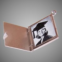 Unique Sterling Silver Graduates Cap Locket Charm