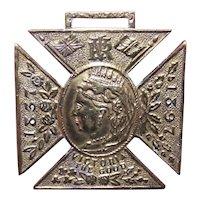 C.1897 Queen Victoria Brass Jubilee Medal Pendant