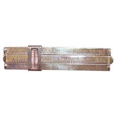 Vintage Made in Japan Sterling Silver Plastic Mechanical Slide Rule Tie Clip