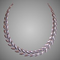 Danecraft Sterling Silver Double Leaf Necklace