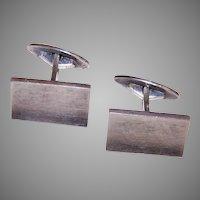 Frantz Hingelberg Denmark Danish Modernist Sterling Silver Cufflinks