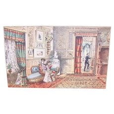 J Kennedy & Sons Carpet Co St Louis Mo - Interior Home Scene - Victorian Trade Card