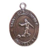 JCC Sterling Silver Saint Christopher Medal for a Soccer Player