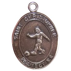 JCC Sterling Silver Saint Christopher Medal for a Soccer Player