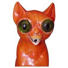 ** Large Orange Devil cat /Lamp 1920***