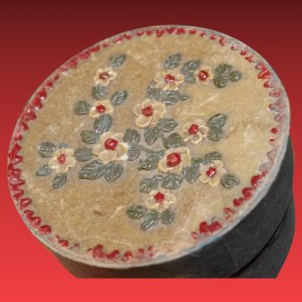 ** Painted Small Box With Flowers **