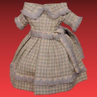** Beautiful Enfantine Huret Type doll Dress **
