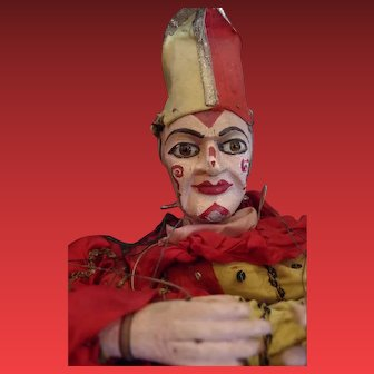 ** Early French Large Puppet clown **