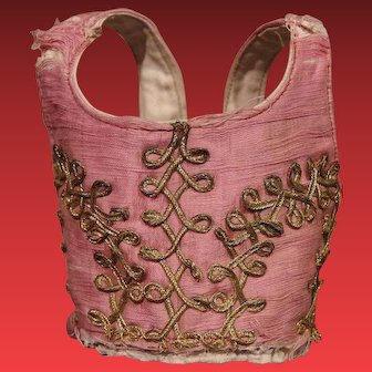 ** Early Embroided Doll Bodice ***