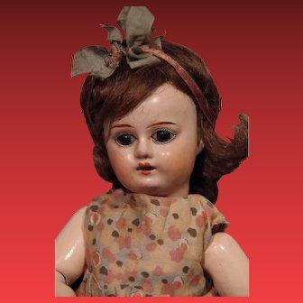 ** Small French Papier mache Doll All Original **