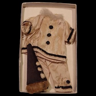 *** Early Silk Pierrot Outfit For A Mignonette ***