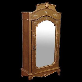 ** Gilded Mirror Dolls Closet French 1880***