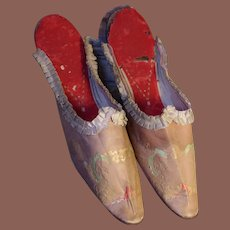 ** Early pair Of French Slippers *** 1840