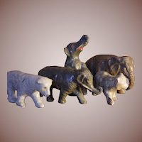 ** Papier Mache Elephants And Bears ***