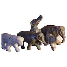 ** Papier Mache Elephants And Bears ***