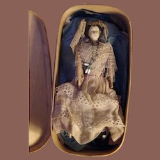 ** Early French Papier Mache Doll with Fork type Hands ***