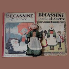 ** Two BECASSINE books And Doll 1927 ***