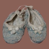 ** Antique Doll Slippers **