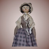** 1860 Wooden German Doll **