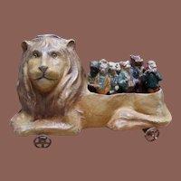 **Wonderful Antique German Lion Skittles Toy 1900**
