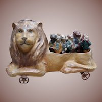 **Wonderful Antique German Lion Skittles Toy 1900**