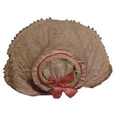 *** Larger doll bonnet **