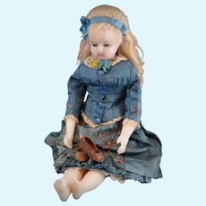** Lovely Small English Wax Doll Original **1860