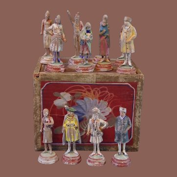 """** Miniature Indian Terracotta Figures Early 19th Century """""""""""""""