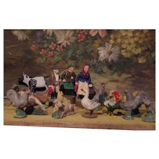 ** Group Of Farm Animals and Farmers 1900**
