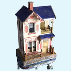*** Gotschalk Deauville Blue Roof Doll house And Furniture ****
