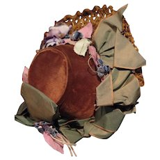 *** Wonderful Antique Doll Hat 1870**