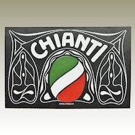 CHIANTI - Italian red wine brand. Trading Card