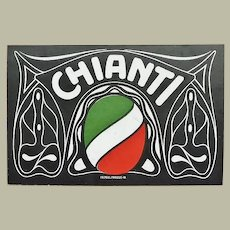 CHIANTI - Italian red wine brand. Trading Card