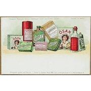 OSAN, Soaps, Perfumes Cosmetics. Chromo lithograph
