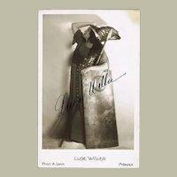 Luise Willer Autograph CoA