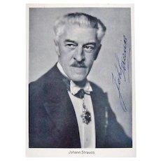 Johann STRAUSS III Autograph with CoA