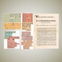 Lot of World War 2 Coupons 18 Sheets