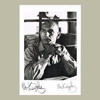 Ben Kingsley Autograph. Signed Photo. CoA