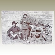 Chinese Photo Peasants: 2 men and a boy