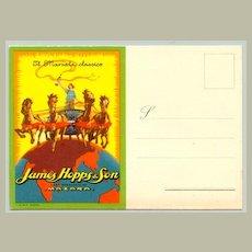 Attractive advertising Postcard by John Hopps & Son: Marsalla Classico ca. 1920: