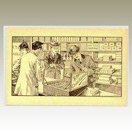 Emile Kahlert: Paper Mill advertising Postcard by Mettler