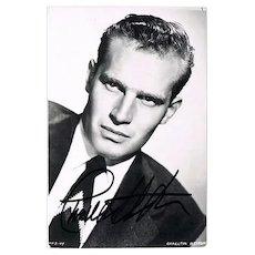 Charlton Heston Autograph on Photo CoA