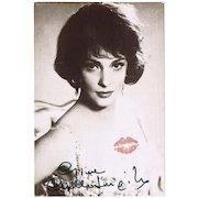 Gina Lollobrigida Autograph. CoA