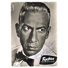 Jose Ferrer Autograph. Signed Photo. CoA