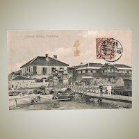 Antique China Postcard Chinese Hotels Chinkiang